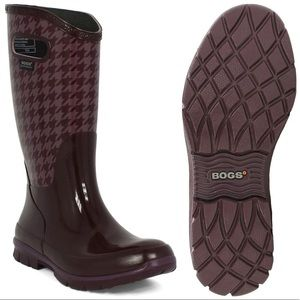 BOGS Berkley Houndstooth Waterproof Rain Boots